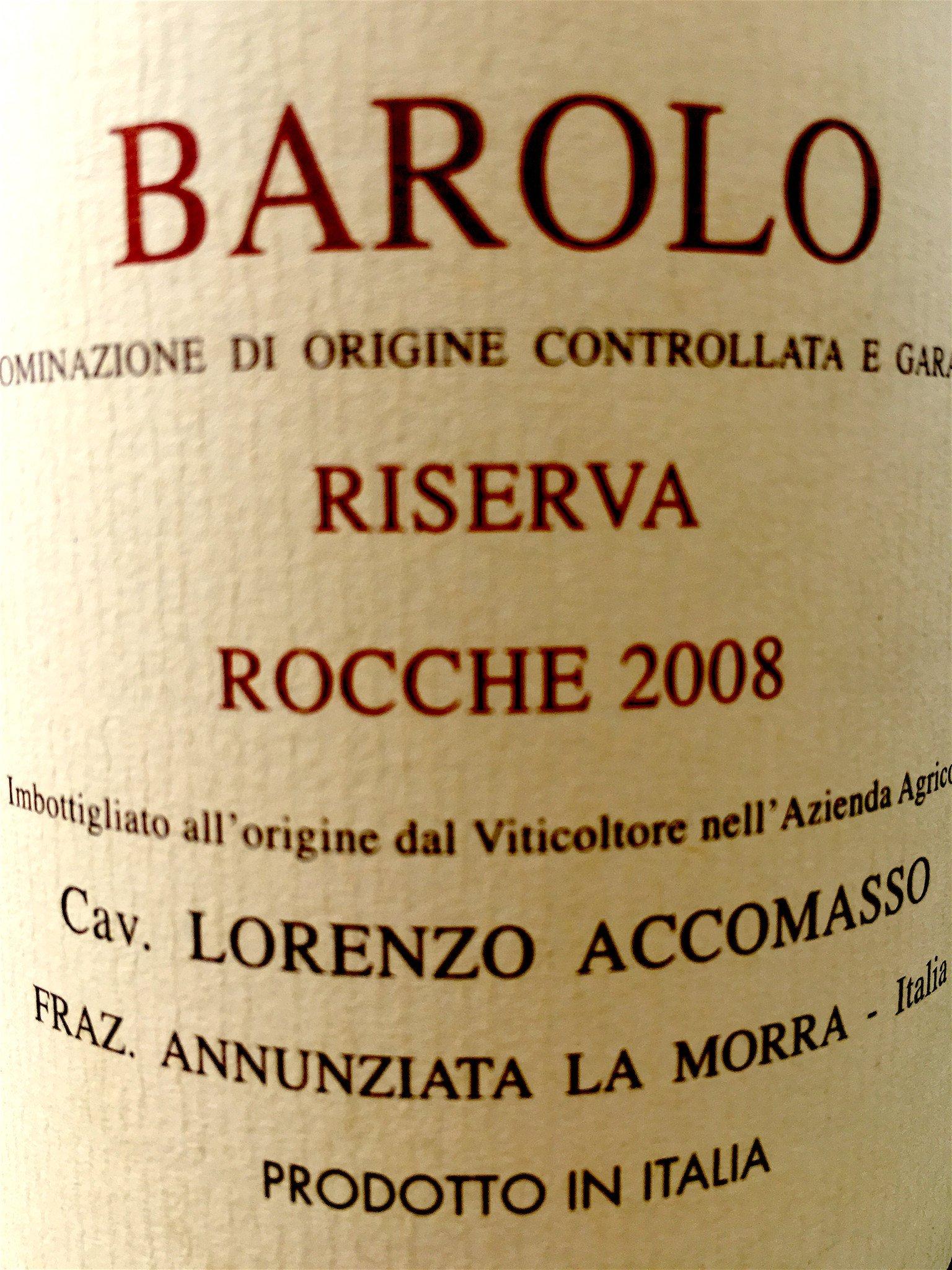 Accomasso Barolo Riserva Rocche 2008