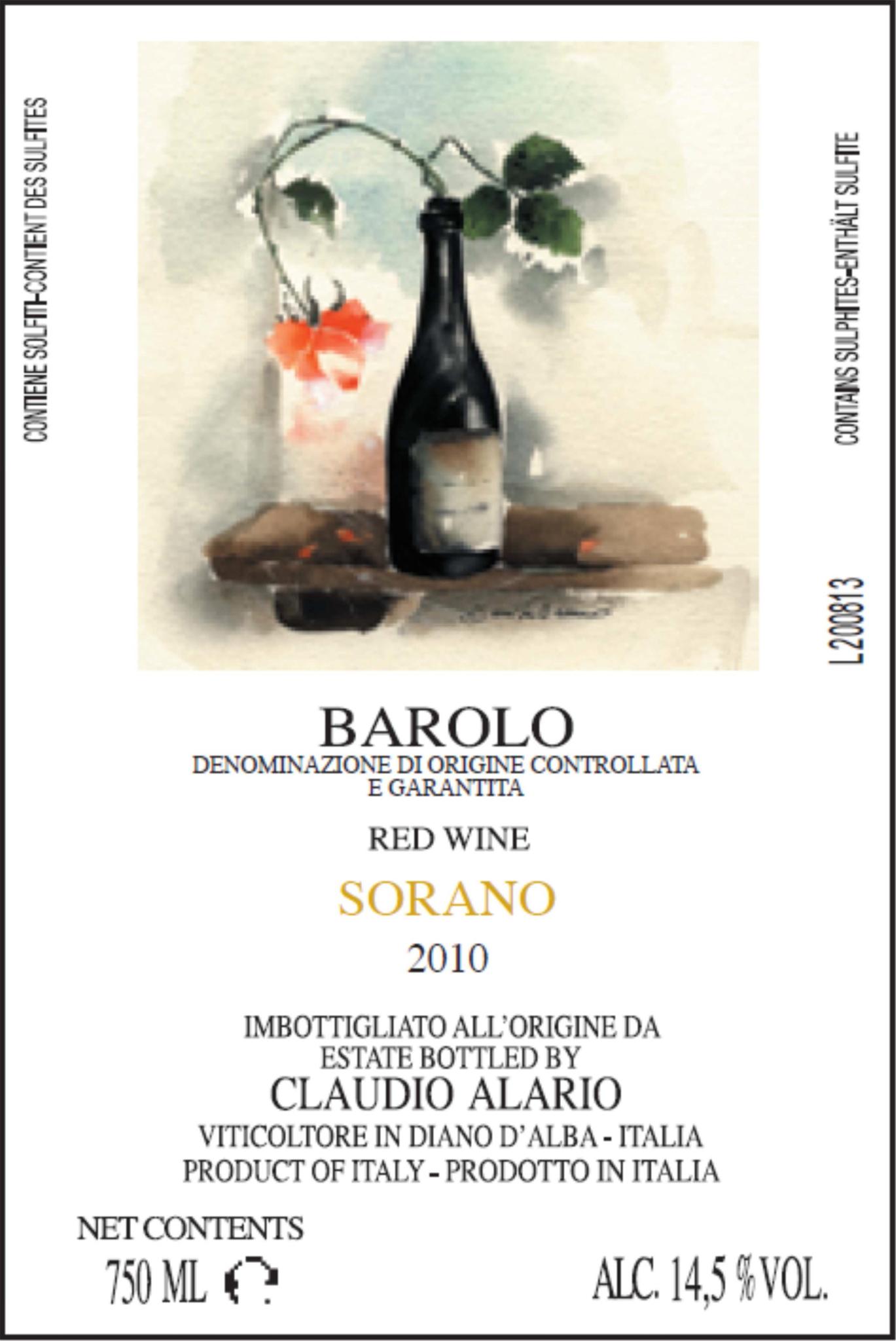 Alario Barolo Sorano 2010 - last bottles!