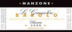 Manzone Barolo Riserva Gramolere Magnum 2007